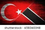 flags of turkey and trinidad... | Shutterstock . vector #658360348