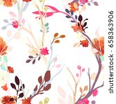 vintage seamless pattern ...   Shutterstock .eps vector #658363906