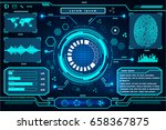 futuristic interface technology ... | Shutterstock .eps vector #658367875