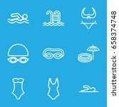 swim icons set. set of 9 swim... | Shutterstock .eps vector #658374748