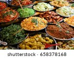 traditional street food in the... | Shutterstock . vector #658378168