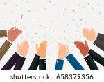 human hands clapping. vector... | Shutterstock .eps vector #658379356