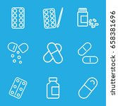pill icons set. set of 9 pill... | Shutterstock .eps vector #658381696