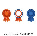 set of prize ribbon vector | Shutterstock .eps vector #658383676