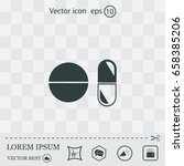 pill icon | Shutterstock .eps vector #658385206