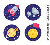 space vector icons | Shutterstock .eps vector #658385656