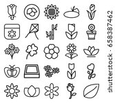 floral icons set. set of 25... | Shutterstock .eps vector #658387462