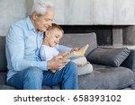 diligent handsome granddad... | Shutterstock . vector #658393102