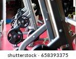 barbell bench press stands... | Shutterstock . vector #658393375