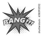 bang  comic book explosion icon ... | Shutterstock . vector #658393552