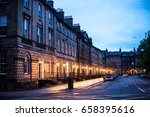 Lights On An Edinburgh Street