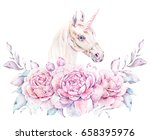watercolor illustration with a... | Shutterstock . vector #658395976