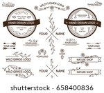 vector set of hand drawn... | Shutterstock .eps vector #658400836