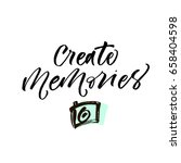 create memories postcard. ink... | Shutterstock .eps vector #658404598