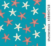a seamless pattern with... | Shutterstock .eps vector #658404718