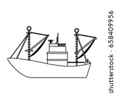 fishing boat isolated | Shutterstock .eps vector #658409956