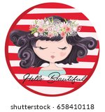 cute girl vector design. | Shutterstock .eps vector #658410118