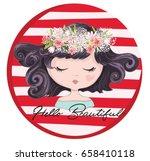 cute girl vector design. | Shutterstock .eps vector #658410118