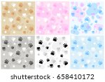 dog paw print background | Shutterstock .eps vector #658410172