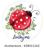 ladybug vector illustration of... | Shutterstock .eps vector #658411162
