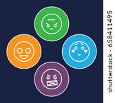 mood icons set. set of 4 mood... | Shutterstock .eps vector #658411495
