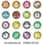 finance vector icons for user... | Shutterstock .eps vector #658415212