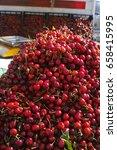new harvest of fresh ripe red... | Shutterstock . vector #658415995