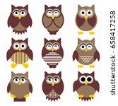 cute owl illustration for any... | Shutterstock .eps vector #658417258