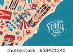 summer time. horizontal... | Shutterstock .eps vector #658421242