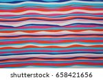abstract wave fabric color... | Shutterstock . vector #658421656