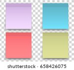 colorfull and white stickers... | Shutterstock .eps vector #658426075