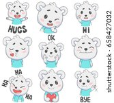 cartoon colorful bear. icons... | Shutterstock .eps vector #658427032