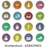 clothes vector icons for user... | Shutterstock .eps vector #658429852