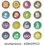 alternative energy vector icons ... | Shutterstock .eps vector #658429912