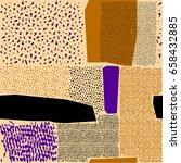 scattered geometric line shapes.... | Shutterstock .eps vector #658432885