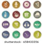 music vector icons for user... | Shutterstock .eps vector #658433356