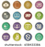server vector icons for user... | Shutterstock .eps vector #658433386