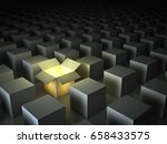 stand out from the crowd  ... | Shutterstock . vector #658433575