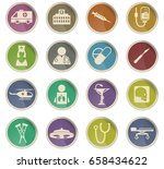 medical vector icons for user... | Shutterstock .eps vector #658434622