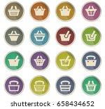 basket vector icons for user... | Shutterstock .eps vector #658434652