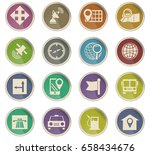 navigation vector icons for... | Shutterstock .eps vector #658434676