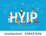 hyip concept vector... | Shutterstock .eps vector #658437646