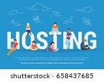 hosting concept vector... | Shutterstock .eps vector #658437685