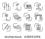 set icons of sound...   Shutterstock .eps vector #658441096