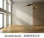 interior of empty room 3d...   Shutterstock . vector #658455115