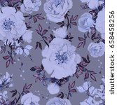 seamless pattern with flowers... | Shutterstock . vector #658458256