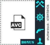avc icon flat. simple vector...