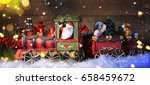 Christmas Train With Decoratio...