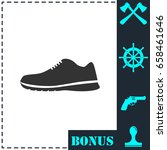 sneakers icon flat. simple... | Shutterstock .eps vector #658461646