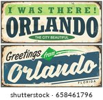 greetings from orlando florida... | Shutterstock .eps vector #658461796